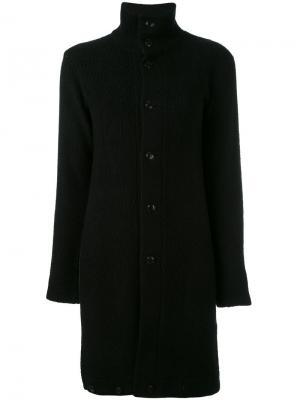 Длинный жакет с воротником-воронкой Yohji Yamamoto Vintage. Цвет: черный
