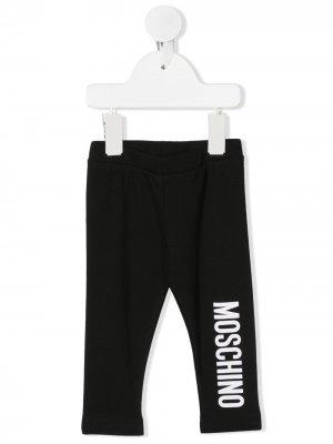 Легинсы с логотипом Moschino Kids. Цвет: черный