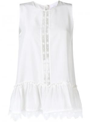 Блузка Sia P.A.R.O.S.H.. Цвет: белый