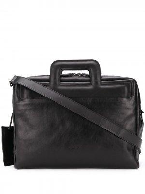 Каркасный портфель Marsèll. Цвет: черный