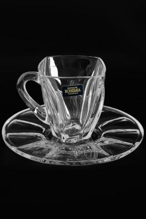 Чайный набор 160 мл, 6 пар Crystalite Bohemia. Цвет: прозрачный