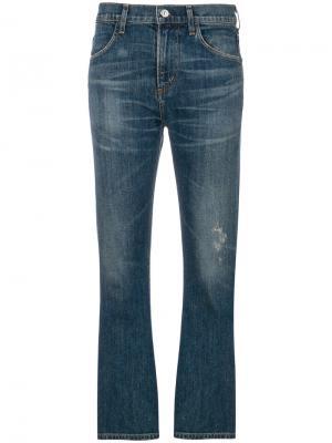 Укороченные слегка расклешенные джинсы Citizens Of Humanity. Цвет: синий