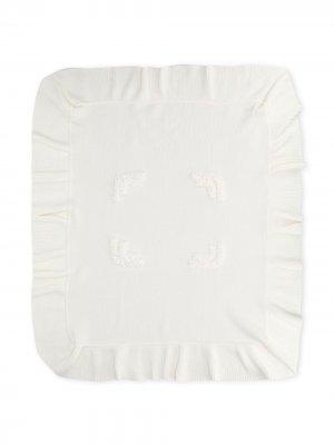 Одеяло с оборками Siola. Цвет: белый