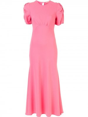 Платье макси с короткими рукавами Maggie Marilyn. Цвет: розовый