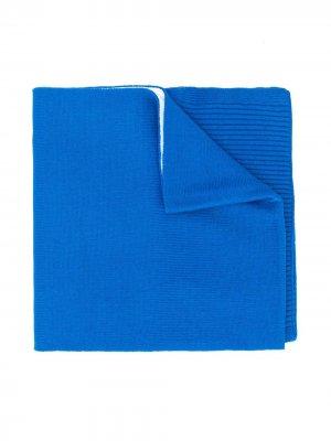Трикотажный шарф с логотипом Diesel Kids. Цвет: синий