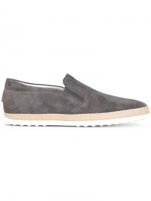 Tods кроссовки-слипон Tod's. Цвет: серый