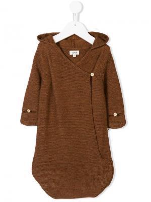 Трикотажный спальный мешок Oeuf. Цвет: коричневый