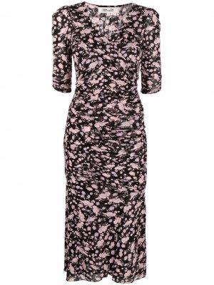 Платье Barbara с запахом DVF Diane von Furstenberg. Цвет: черный