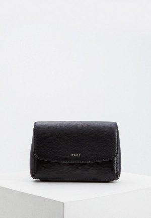 Сумка поясная DKNY. Цвет: черный