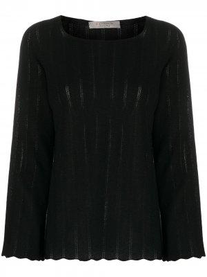 Джемпер в полоску с длинными рукавами D.Exterior. Цвет: черный