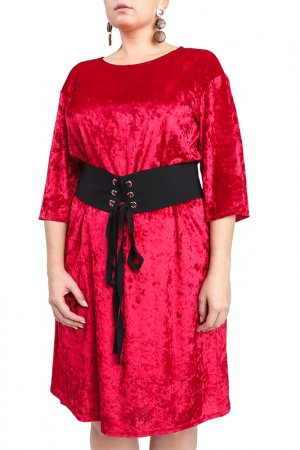 Платье LACY. Цвет: красный