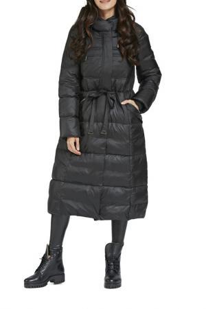Пальто D`IMMA. Цвет: черный