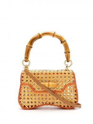 Соломенная сумка Jackie SERPUI. Цвет: нейтральные цвета