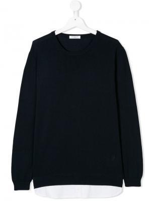 Пуловер с длинными рукавами Paolo Pecora Kids. Цвет: синий