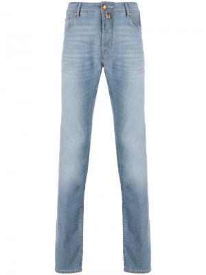 Прямые джинсы с эффектом варенки Jacob Cohen. Цвет: синий