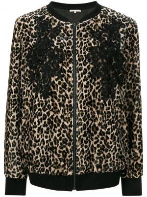 Leopard print bomber jacket Gold Hawk. Цвет: коричневый