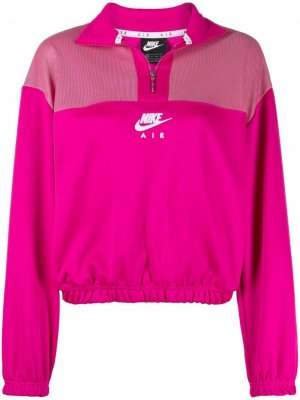Спортивный топ Air на молнии Nike. Цвет: розовый