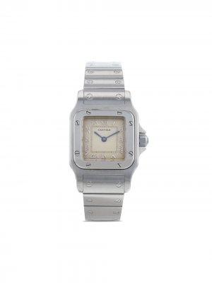 Наручные часы Santos Galbée pre-owned 24 мм 1990-го года Cartier. Цвет: золотистый