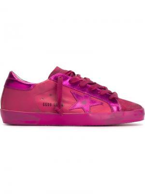 Кеды Super Star Golden Goose Deluxe Brand. Цвет: розовый и фиолетовый