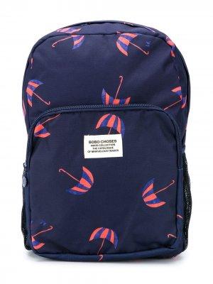 Рюкзак с принтом Bobo Choses. Цвет: синий