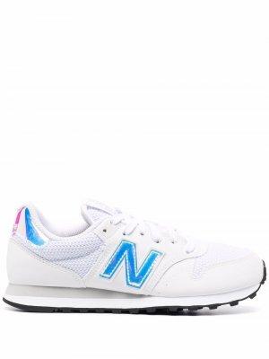 Кроссовки 500 на шнуровке New Balance. Цвет: черный