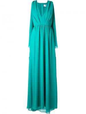 Драпированное вечернее платье MSGM. Цвет: синий