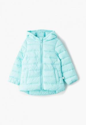 Куртка утепленная United Colors of Benetton. Цвет: бирюзовый