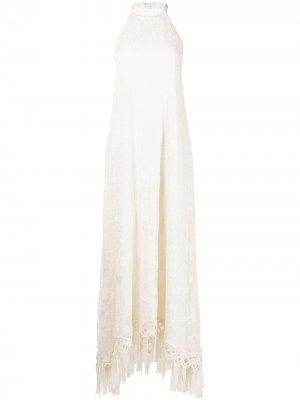 Платье Tahnia с бахромой Alexis. Цвет: белый