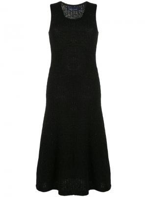 Вязаное платье без рукавов Comme Des Garçons Vintage. Цвет: черный