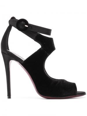 Босоножки с пряжкой и открытым носком Deimille. Цвет: черный