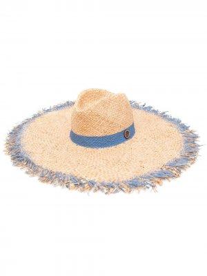 Плетеная шляпа catarzi. Цвет: нейтральные цвета