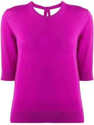 Пуловер с рукавами три четверти и завязками на спине Dorothee Schumacher. Цвет: фиолетовый