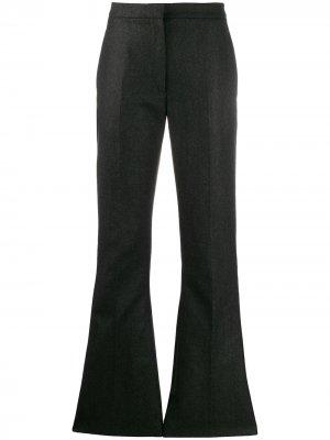 Расклешенные брюки строгого кроя Alexander McQueen. Цвет: серый