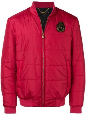 Куртка-бомбер с бляшкой логотипом Billionaire. Цвет: красный