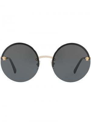 Солнцезащитные очки Glam Medusa с зеркальными линзами Versace Eyewear. Цвет: золотистый