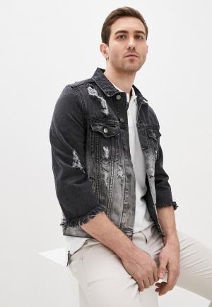 Куртка джинсовая Aarhon. Цвет: черный