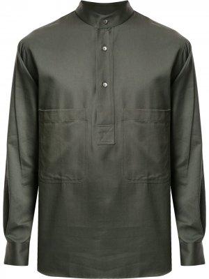 Рубашка с длинными рукавами Cerruti 1881. Цвет: зеленый