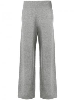 Расклешенные трикотажные брюки Barrie. Цвет: серый