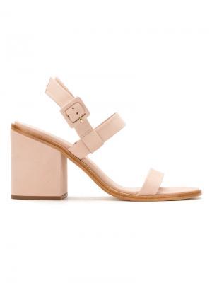 Block heel sandals Osklen. Цвет: розовый