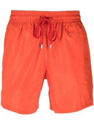 Плавки-шорты с нашивкой-логотипом Vilebrequin. Цвет: красный
