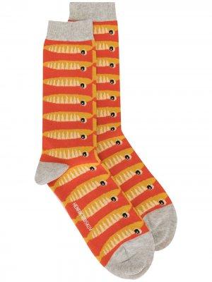 Трикотажные носки Sardines Henrik Vibskov. Цвет: желтый