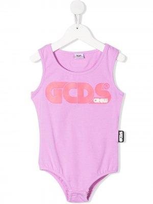 Боди с логотипом Gcds Kids. Цвет: фиолетовый