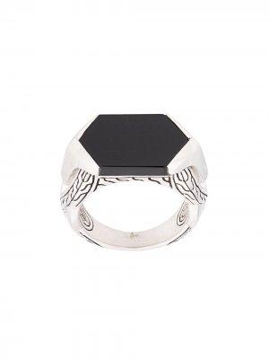 Перстень с камнем John Hardy. Цвет: серебристый