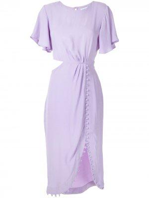 Короткое платье Maggiolina Olympiah. Цвет: фиолетовый