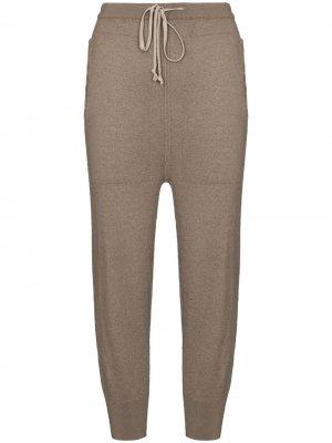 Кашемировые спортивные брюки с низким шаговым швом Rick Owens. Цвет: нейтральные цвета