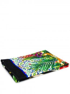 Пляжное полотенце с принтом Dolce & Gabbana. Цвет: черный