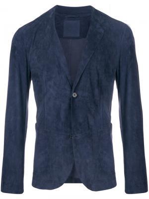 Классический пиджак Desa 1972. Цвет: синий