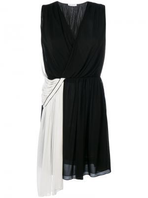 Двухцветное асимметричное платье Vionnet. Цвет: черный