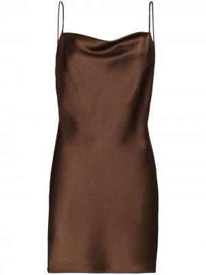 Приталенное платье мини Lotti Nanushka. Цвет: коричневый