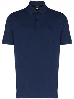 Рубашка поло Pallas BOSS. Цвет: синий